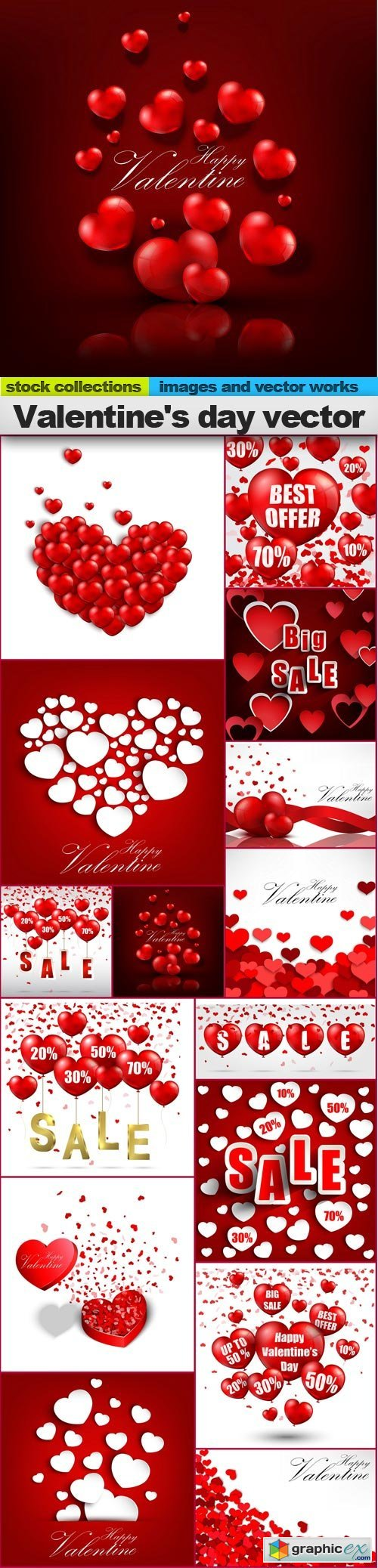 Valentine's day vector, 15 x EPS