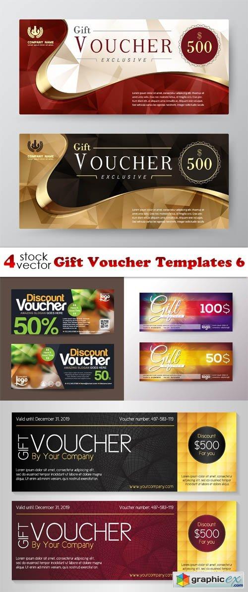 Vectors Gift Voucher Templates 6 Free Download Vector Stock