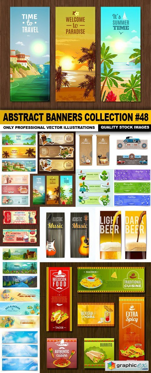 Abstract Banners Collection #48 - 15 Vectors