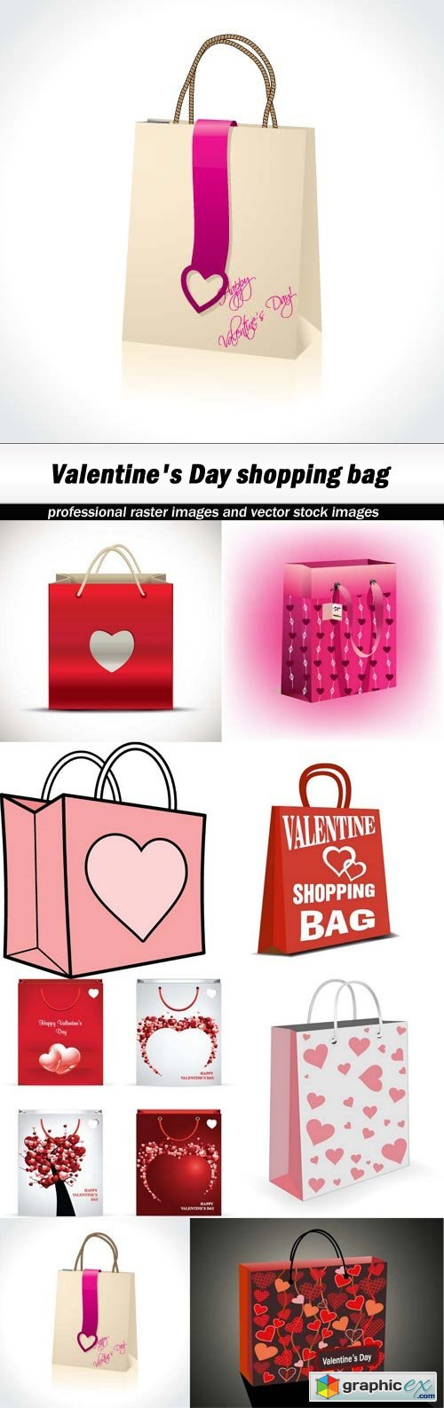 Valentine's Day shopping bag