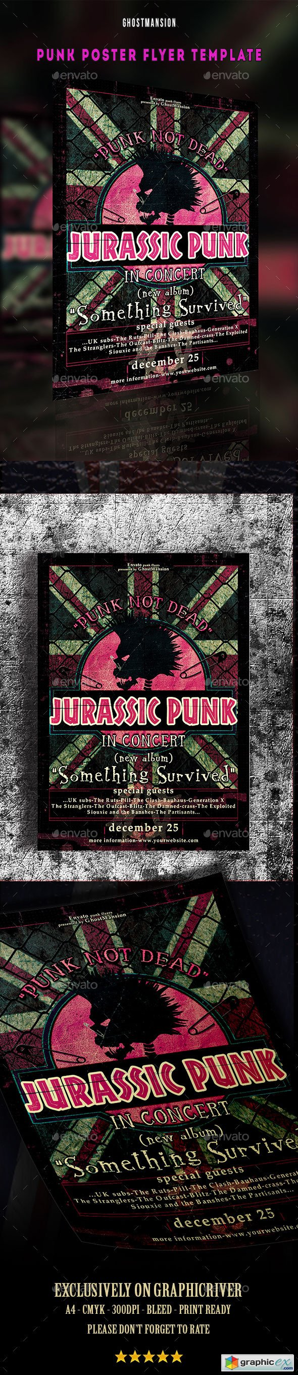 Music Punk Poster Flyer Template