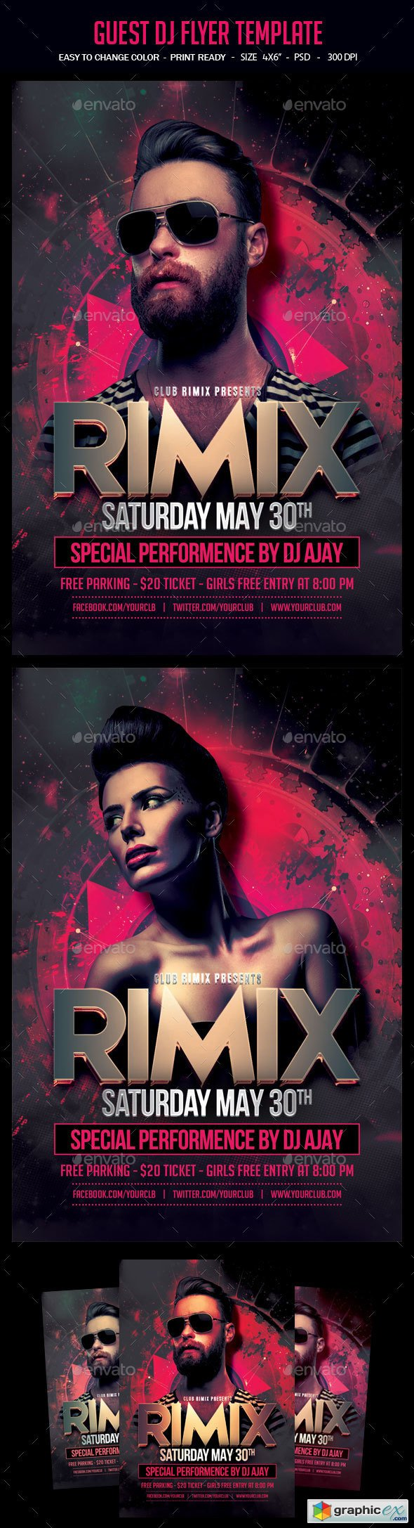Guest Dj Flyer Template » Free Download Vector Stock Image Photoshop ...