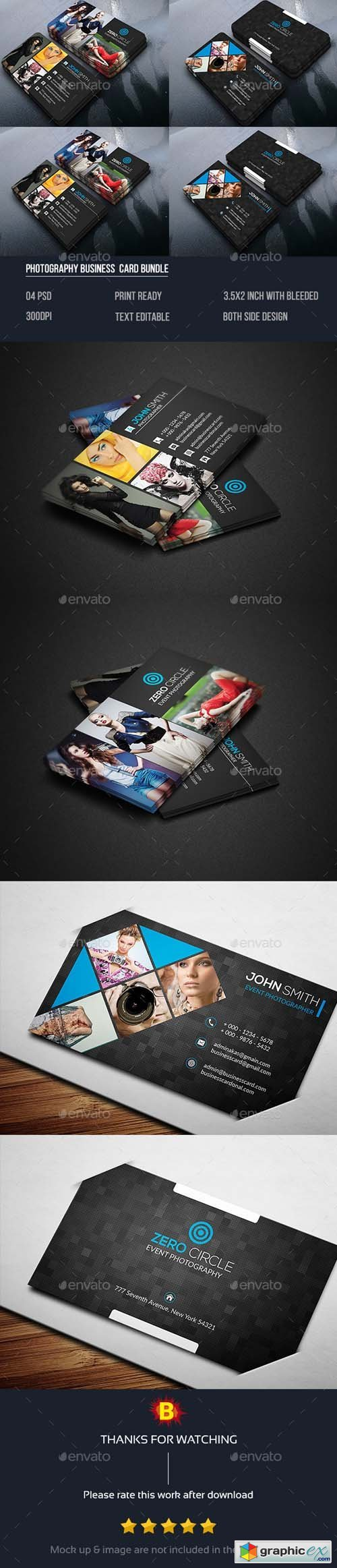 Photography Business Card Bundle 14493705