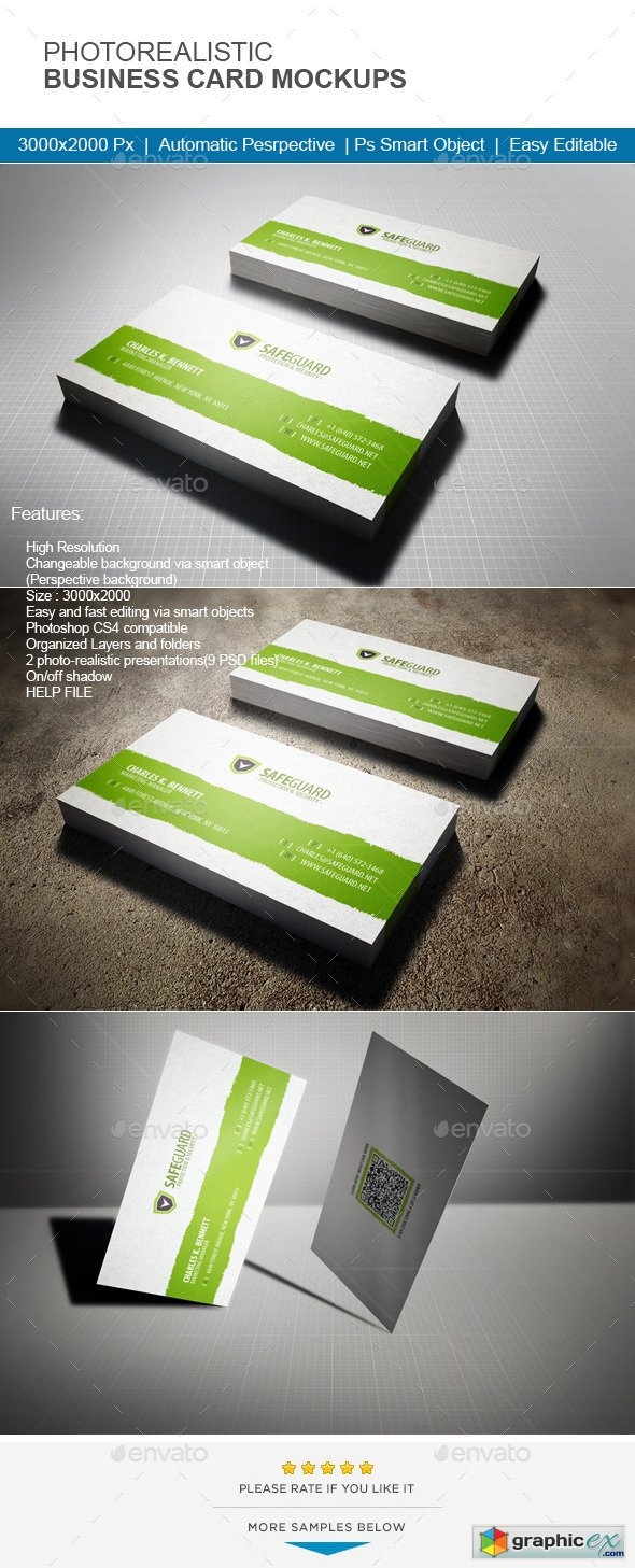 Photorealistic Business Card Mock-Up 11465057