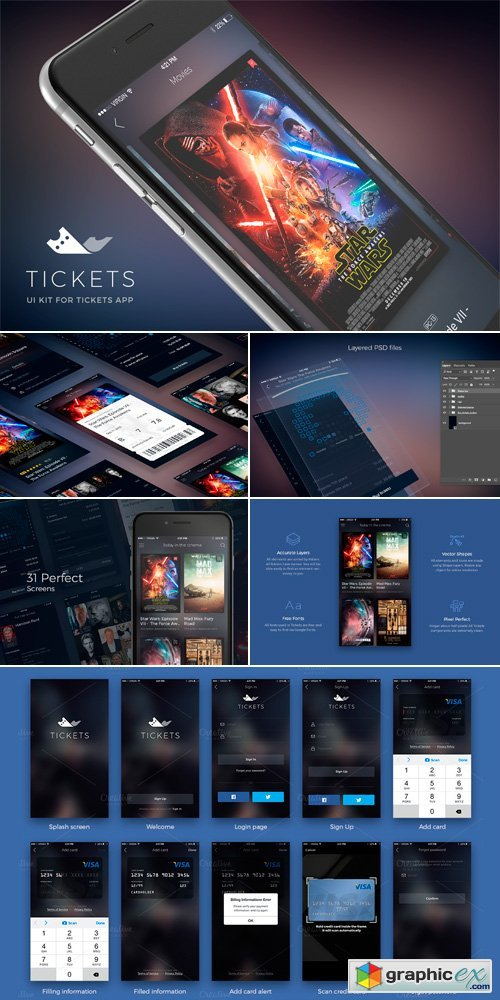 Cinema Tickets UI Kit 489826