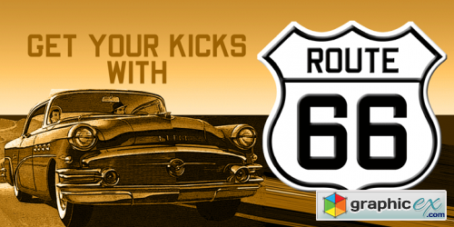 Route 66 NF Font