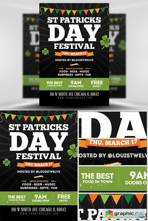 St. Patrick�s Day Festival Flyer Template