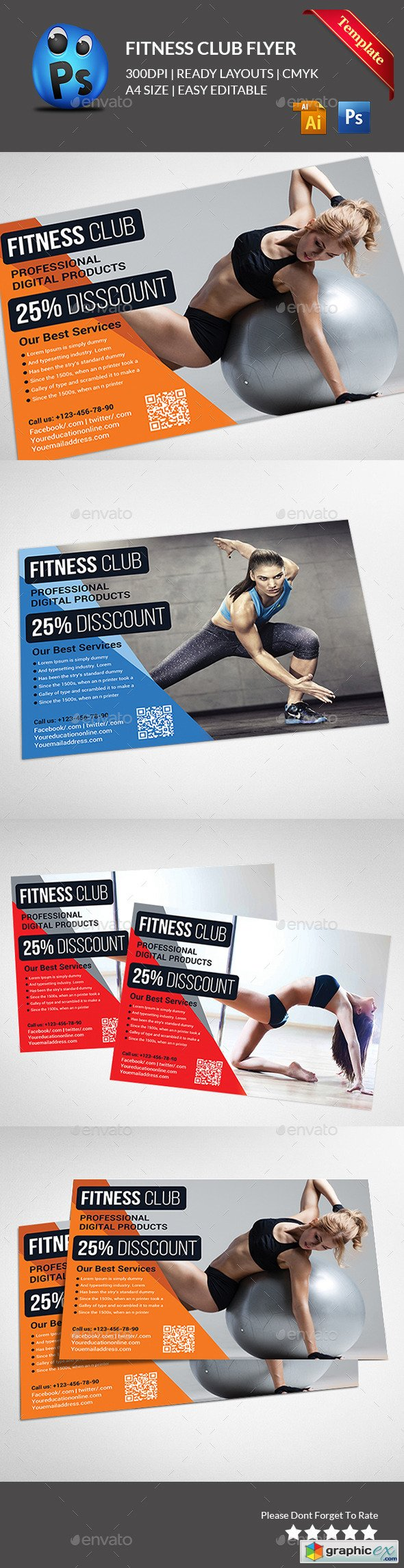 Fitness Flyer - Gym Flyer 11615086