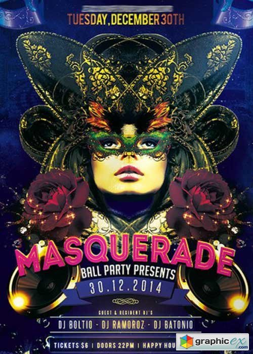Masquerade Ball Party Premium Flyer Template