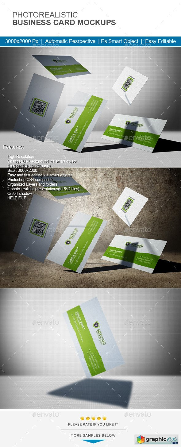 Photorealistic Business Card Mock-Up 11467811