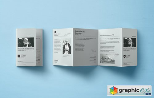 Psd Double Gate Fold Brochure » Free Download Vector Stock