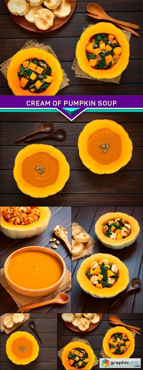 Cream of pumpkin soup 5x JPEG