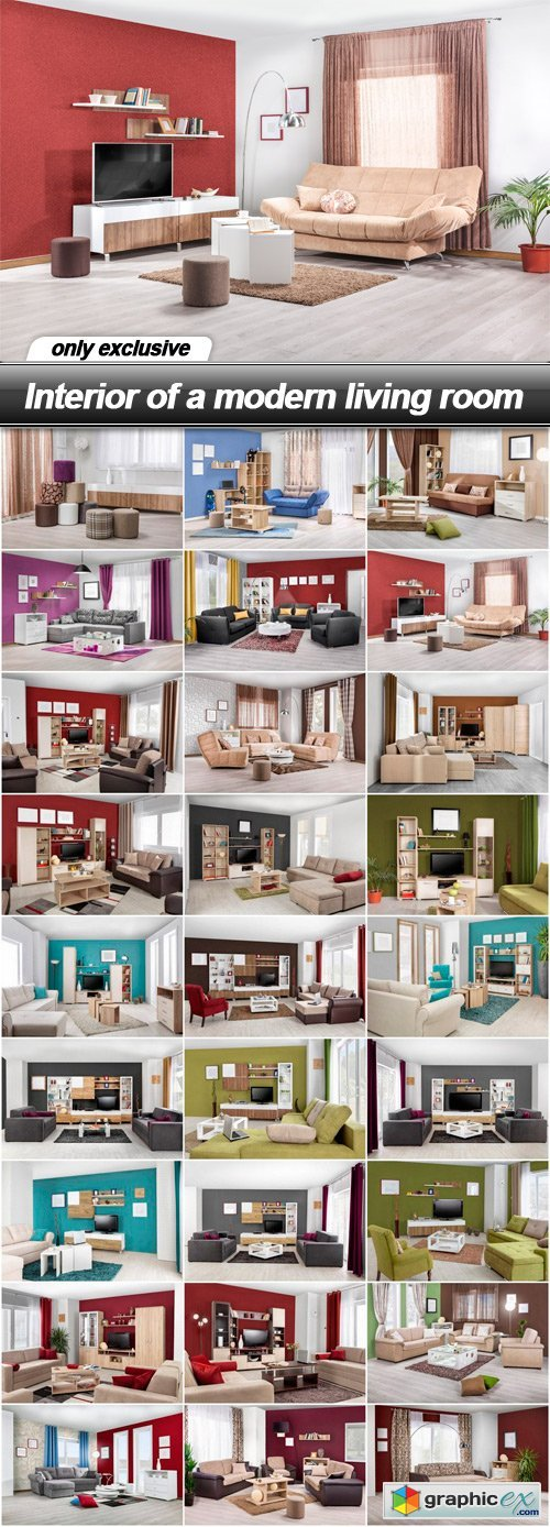 Interior of a modern living room - 27 UHQ JPEG