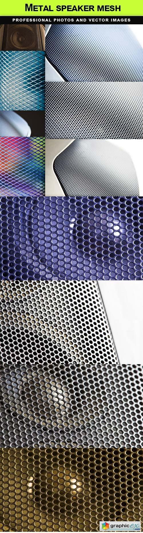Metal speaker mesh