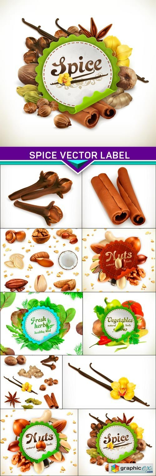 Spice vector label 10x EPS
