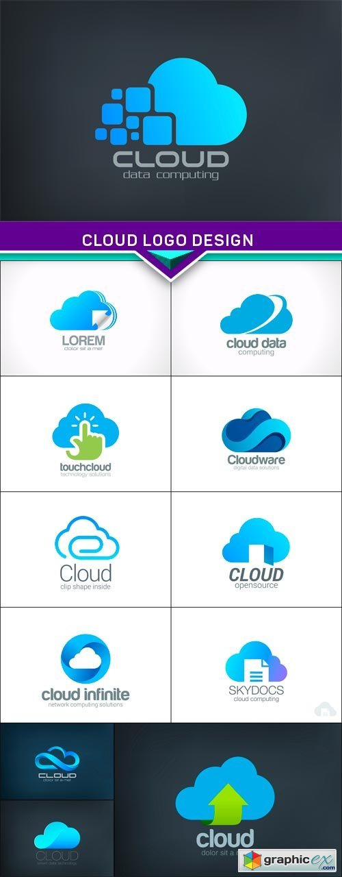 Cloud Logo design 12 x EPS
