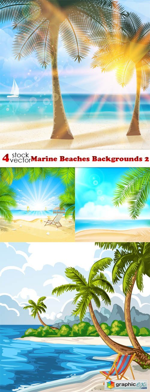 Vectors - Marine Beaches Backgrounds 2