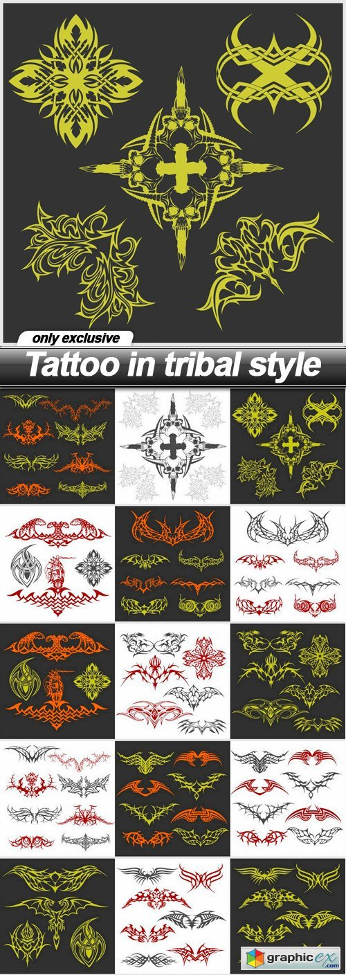 Tattoo in tribal style - 15 EPS