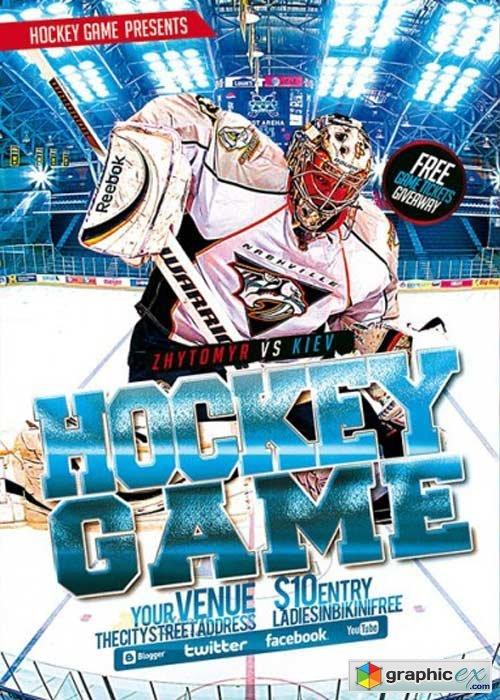Hockey premium flyer template free download vector stock image hockey premium flyer template maxwellsz