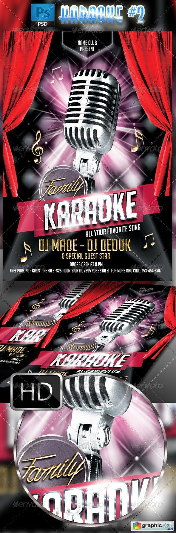 Karaoke Flyer Template 2 Free Download Vector Stock Image