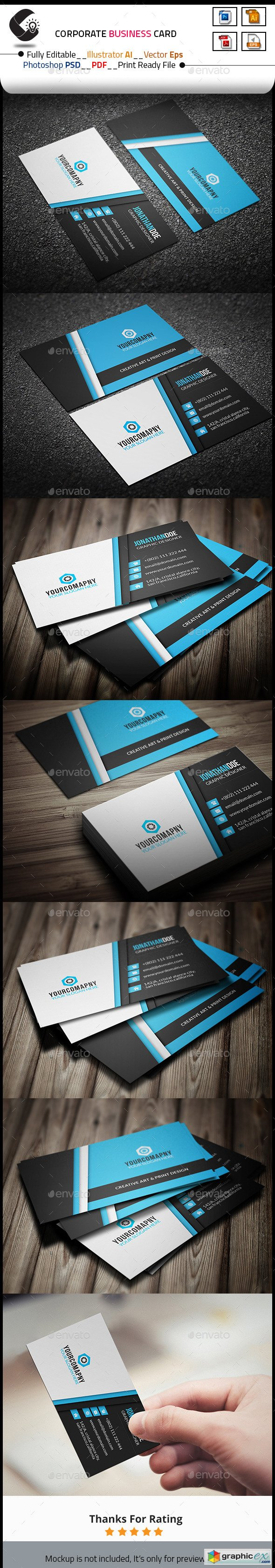 Creative Business Card Template 10684878