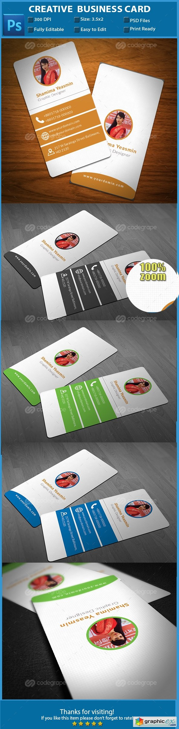Creative Business Card 6109