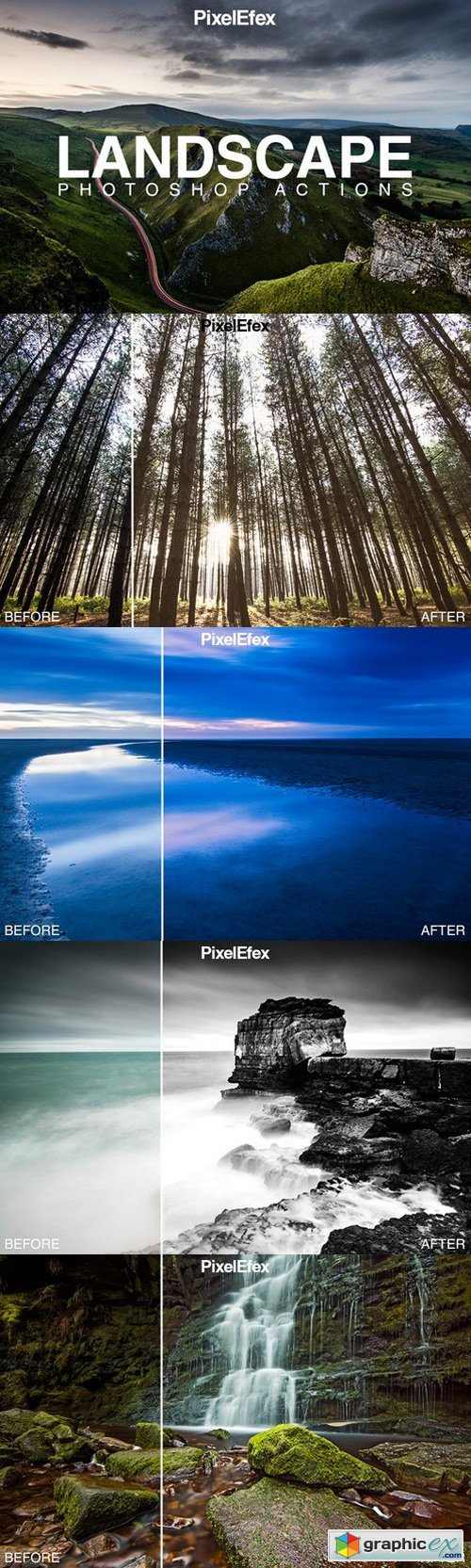 Landscape Photoshop Actions 537018
