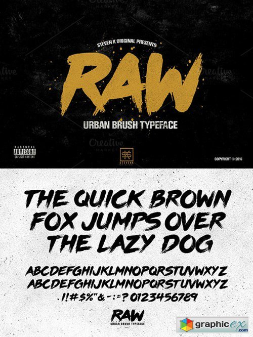 RAW - Urban Brush Typeface