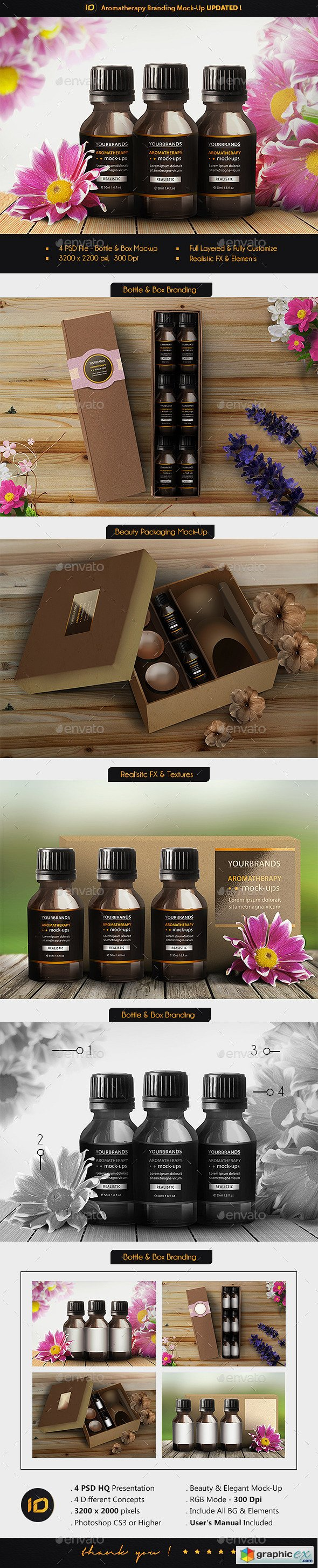 Aromatherapy Bottle Branding Mock-Up