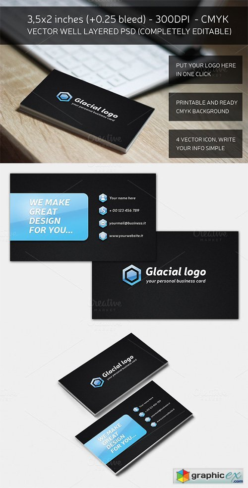 Glacial Business Card