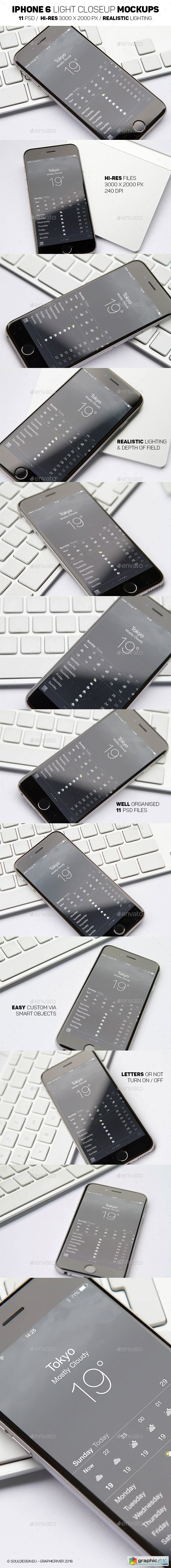 iPhone 6 Light Mockups