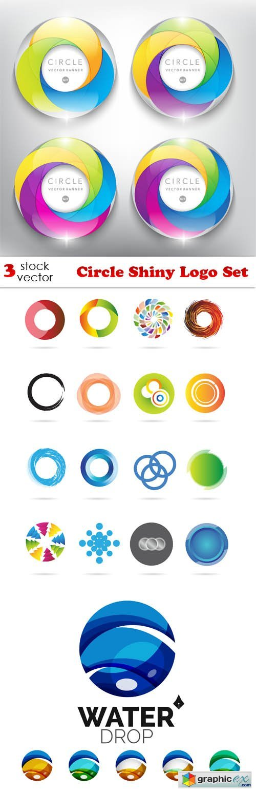 Vectors - Circle Shiny Logo Set