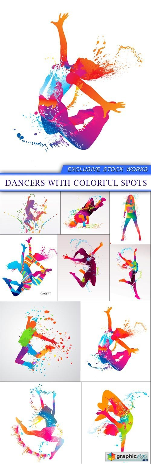 Vector page 1174 free download vector stock image photoshop icon dancers with colorful spots 10x eps gumiabroncs Choice Image
