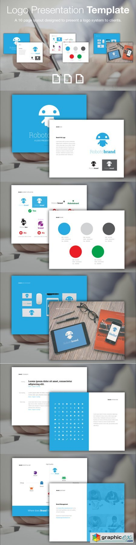 logo presentation template free download vector stock image