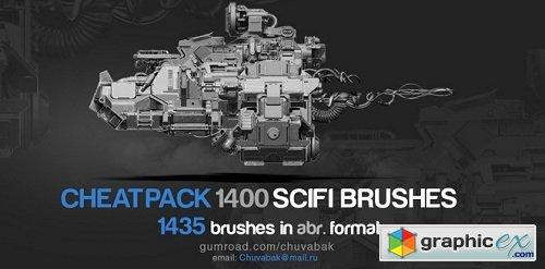 Gumroad - 1400 Sci-Fi Brushes Photoshop - Oleg Vdovenko » Free