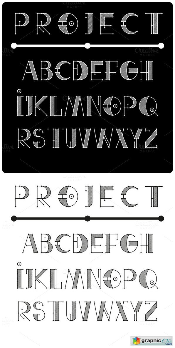 Engineer Technical Vector Font