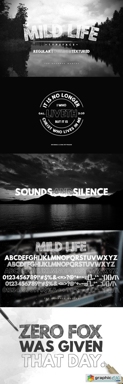 Mid Life font family
