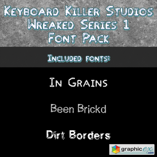 Wreaked Series 1 font pack by KKS