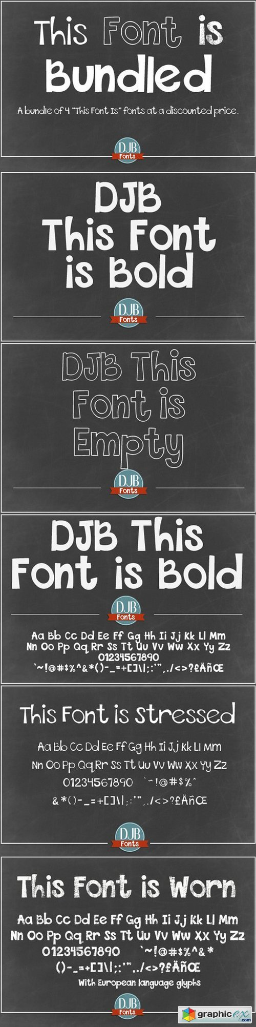 DJB This Font is Bundled