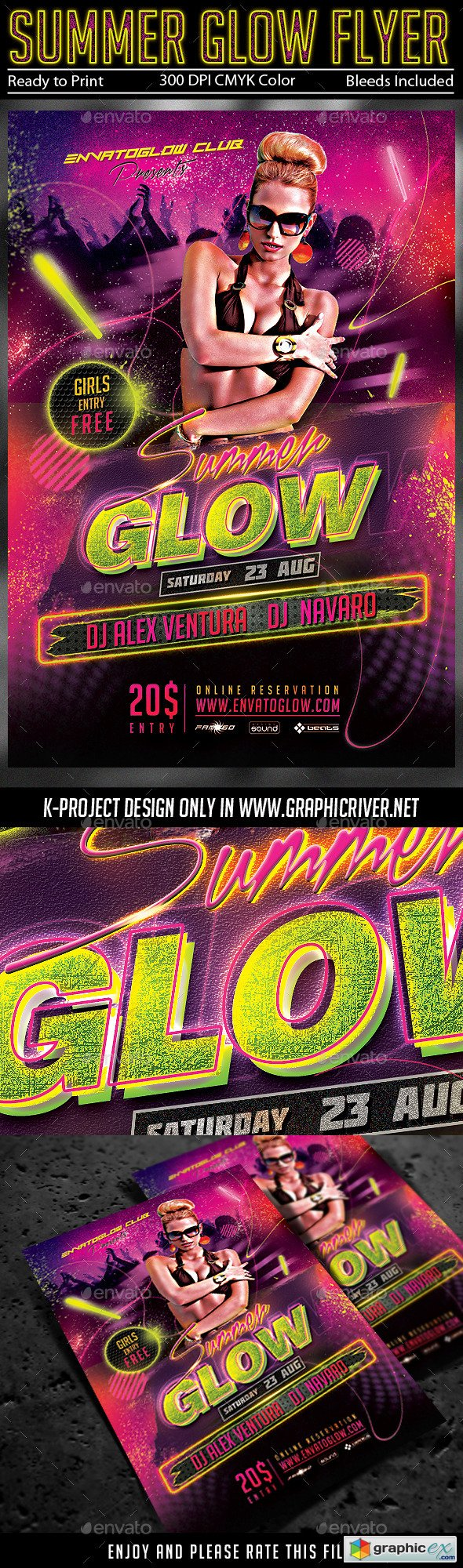 Summer Glow Party Flyer