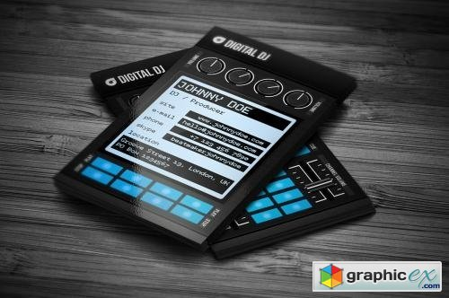 Digital Dj Business Card Template Free Download Vector Stock Image