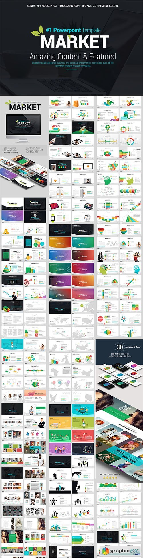 Market powerpoint template free download vector stock image market powerpoint template toneelgroepblik Gallery