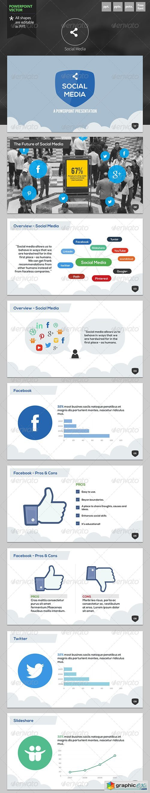 Social Media - Powerpoint Template