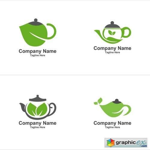 Green Tea Logo 187 Free Download Vector Stock Image