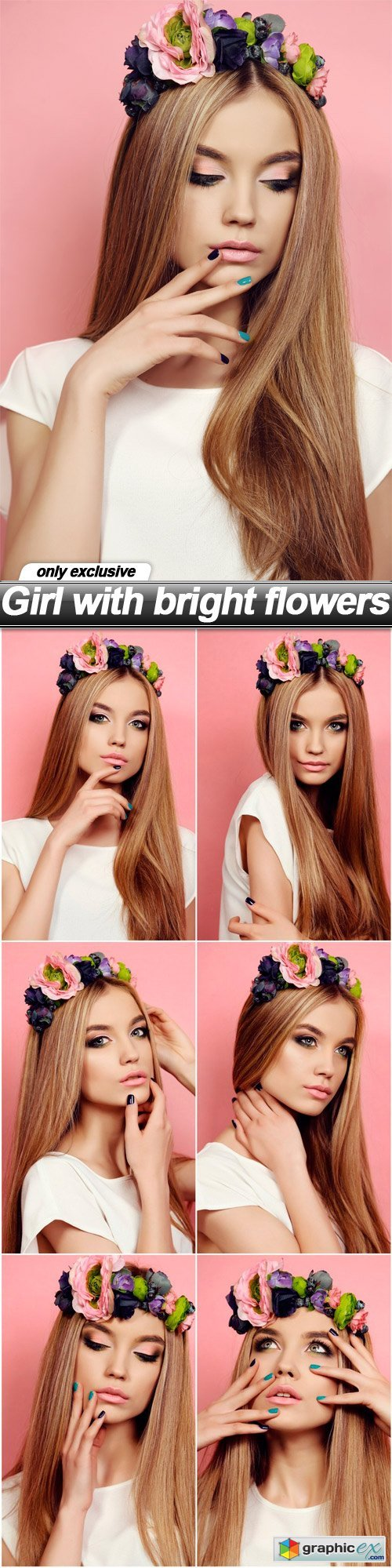Girl with bright flowers - 7 UHQ JPEG