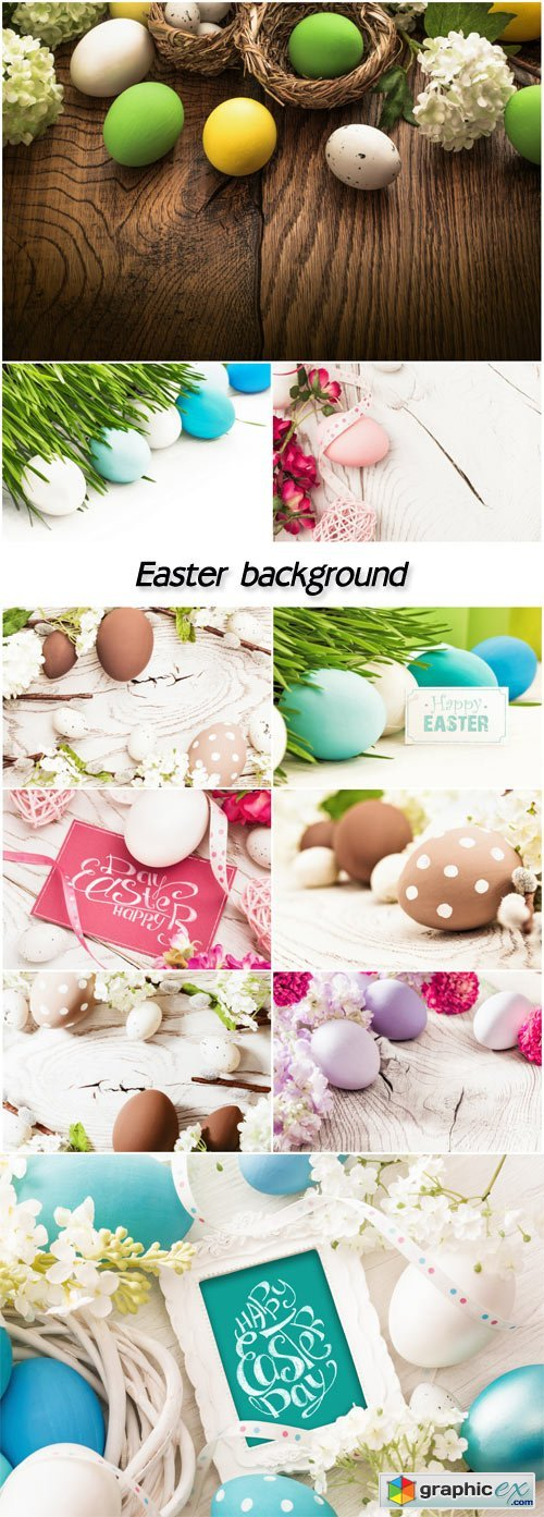 Easter background, spring
