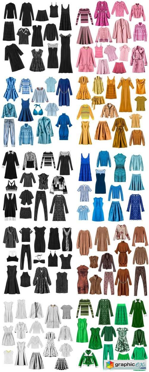Female Clothes Isolated