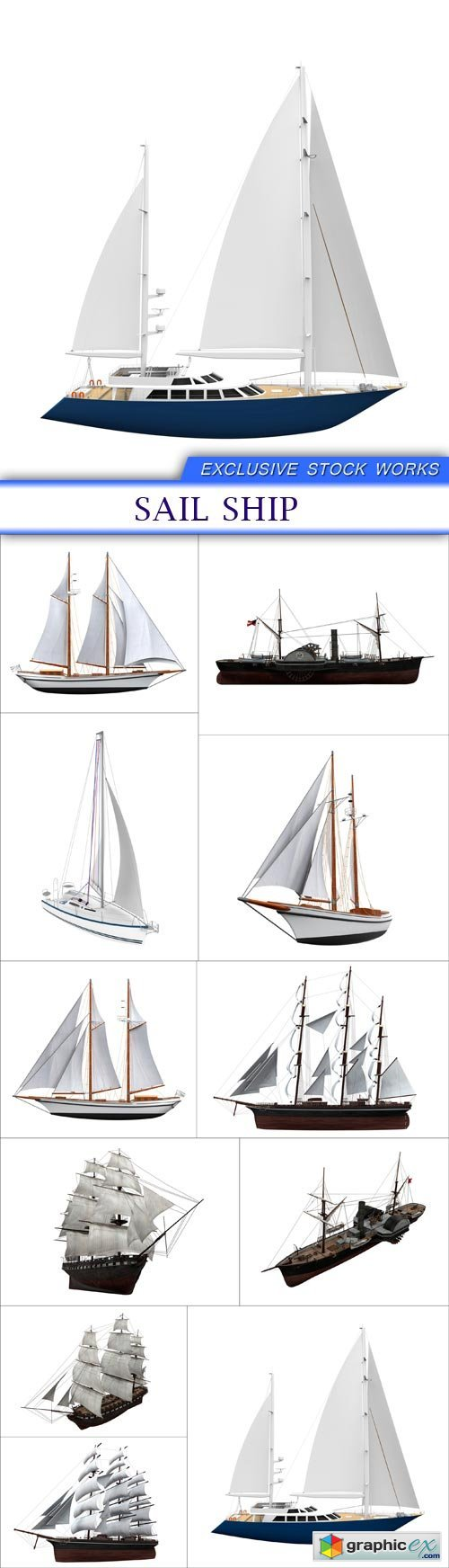 Sail Ship 11x JPEG