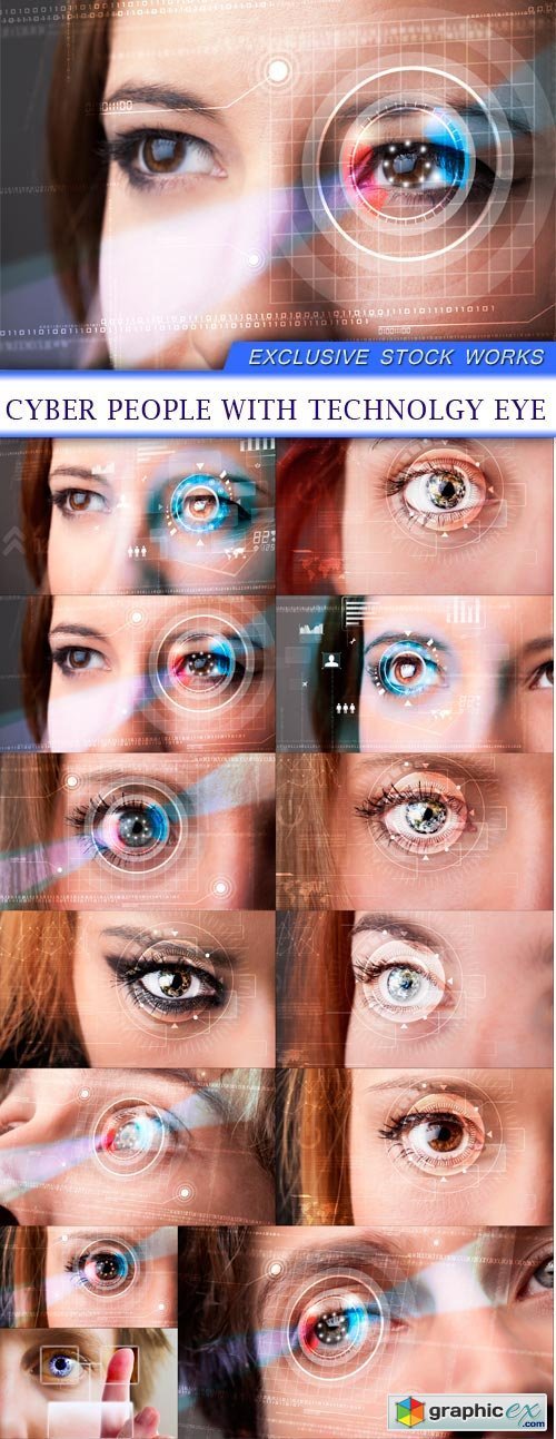 Cyber people with technolgy eye 13X JPEG