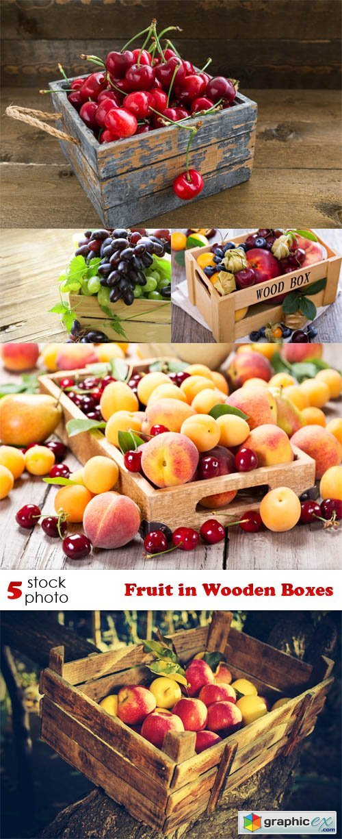 Photos - Fruit in Wooden Boxes